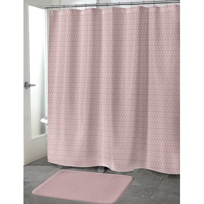 Lauritzen Shower Curtain Color: Rose, Size: 70 H x 72 W