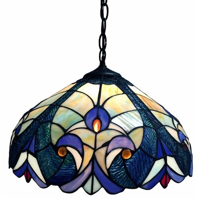 Dedrik 1-Light Inverted Pendant Finish: Blue/Yellow/Orange