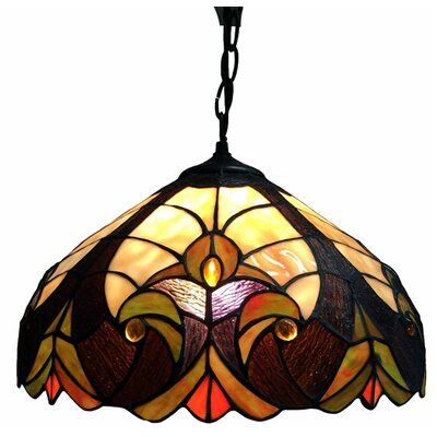 Dedrik 1-Light Inverted Pendant Finish: Brown/Yellow/Green