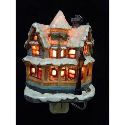 Snow Covered House Night Light