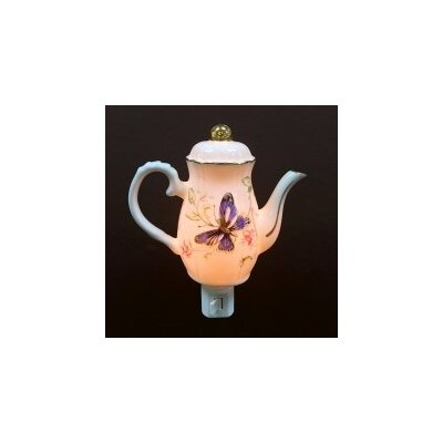 Butterfly on Teapot Night Light