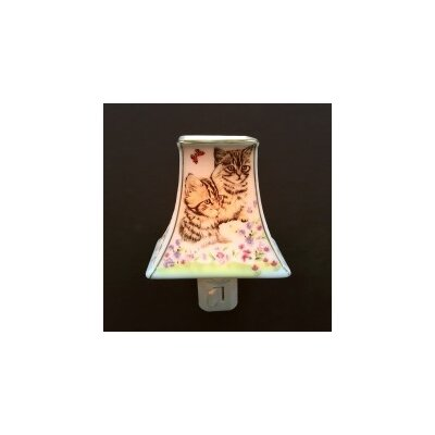 Porcelain Cat Lampshade Night Light