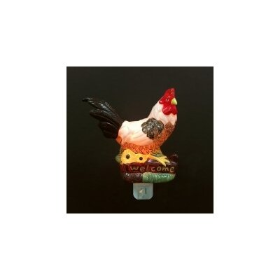 Porcelain Rooster Night Light