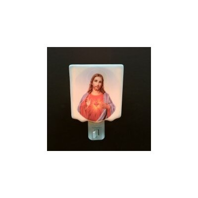 Porcelain Sacred Heart of Jesus Lampshade Night Light