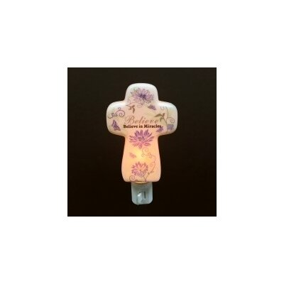 Porcelain Believe In Miracles Cross Night Light
