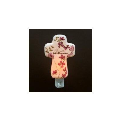 Porcelain Faith Hope Peace Cross Night Light