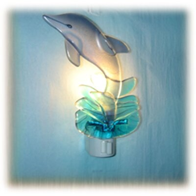 Glass Dolphin Night Light