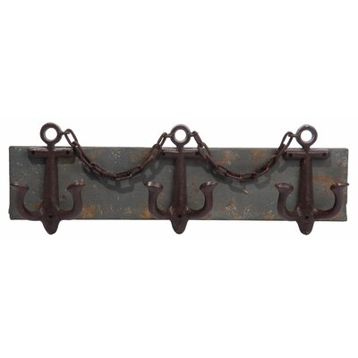 Fielden Anchor 3 Bottle Wall Mounted Wine Rack