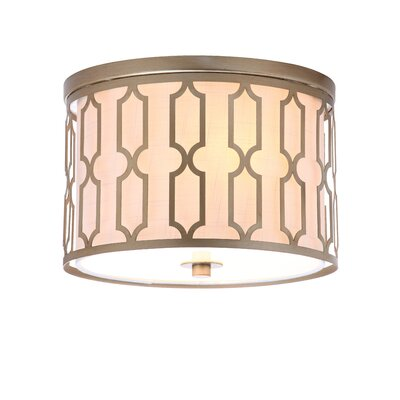 Herrman Metal 2-Light Flush Mount
