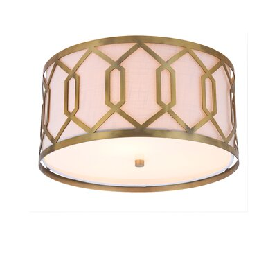 Herring Metal 3-Light Flush Mount Fixture Finish: Brass Gold