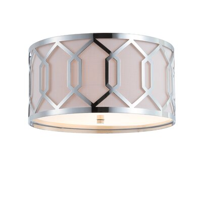 Herring Metal 3-Light Flush Mount Fixture Finish: Chrome