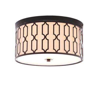 Herrman Metal 3-Light Flush Mount Fixture Finish: Oil Rubbed Bronze