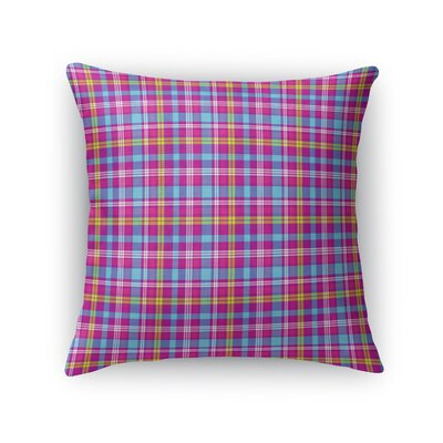 Malpass Plaid Throw Pillow Size: 18 x 18