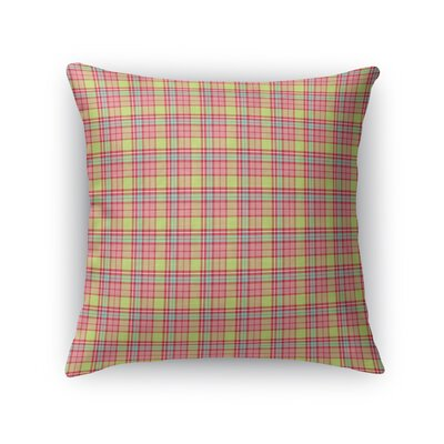 Altha Plaid Throw Pillow Color: Pink/Green, Size: 16 x 16