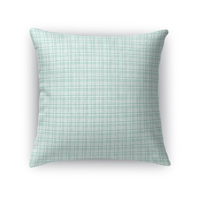 Altha Plaid Throw Pillow Color: Teal, Size: 18 x 18