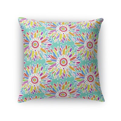Kellswater Floral Throw Pillow Color: Teal, Size: 16 x 16