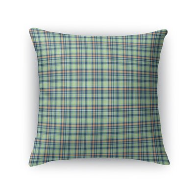 Altha Plaid Throw Pillow Color: Green/Orange, Size: 16 x 16