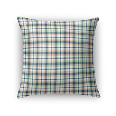Altha Plaid Throw Pillow Color: Blue, Size: 24 x 24