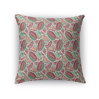 Bowe Watermelon Throw Pillow Size: 24 x 24
