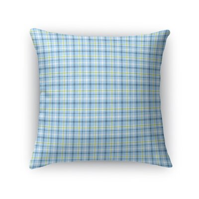 Altha Plaid Throw Pillow Color: Lime, Size: 18 x 18