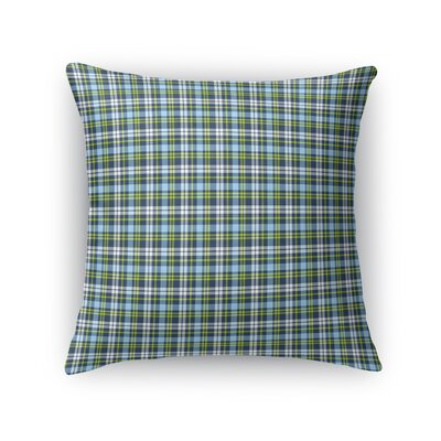 Altha Plaid Throw Pillow Color: Aqua, Size: 16 x 16