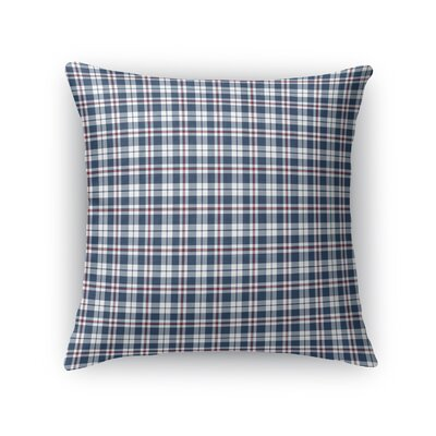 Altha Plaid Throw Pillow Color: Blue/Red, Size: 16 x 16