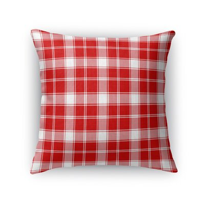 Altha Plaid Throw Pillow Color: Red, Size: 24 x 24