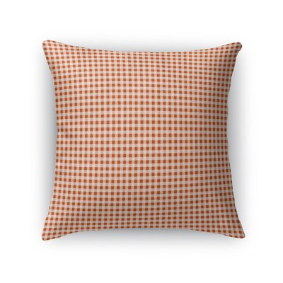 Godbolt Dinner Throw Pillow Color: Red, Size: 16 x 16