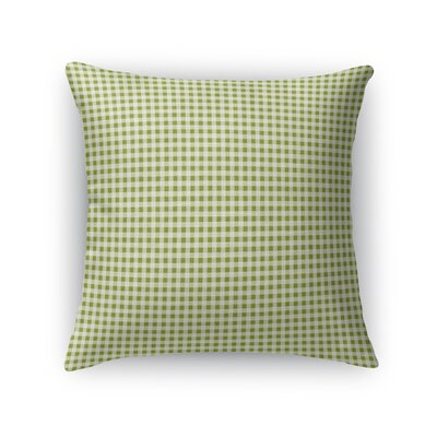 Godbolt Dinner Throw Pillow Color: Green, Size: 18 x 18