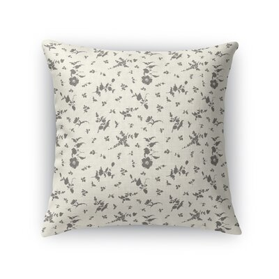 Tomberlin Floral Throw Pillow Size: 16 x 16, Color: Ivory/Charcoal