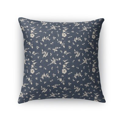 Tomberlin Floral Throw Pillow Size: 24 x 24, Color: Navy/Beige