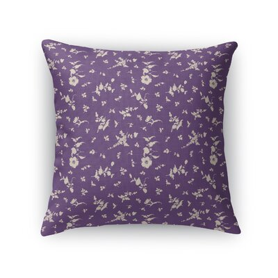 Tomberlin Floral Throw Pillow Size: 18 x 18, Color: Purple/Cream