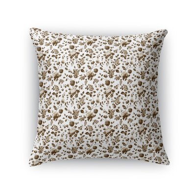 Braylin Bunch Throw Pillow Size: 16 x 16, Color: Brown/Beige