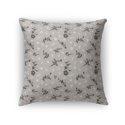 Tomberlin Floral Throw Pillow Size: 18 x 18, Color: Taupe/Black