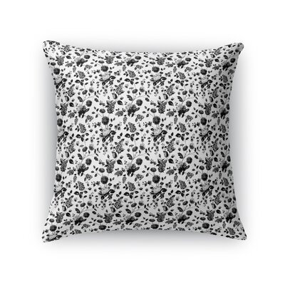 Braylin Bunch Throw Pillow Size: 16 x 16, Color: Black