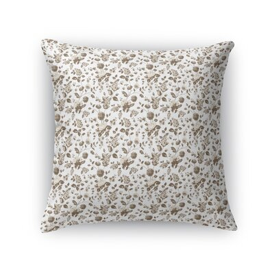 Braylin Bunch Throw Pillow Size: 16 x 16, Color: Brown/Cream