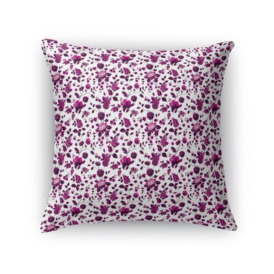 Braylin Bunch Throw Pillow Size: 24 x 24, Color: Fuchsia/Brown