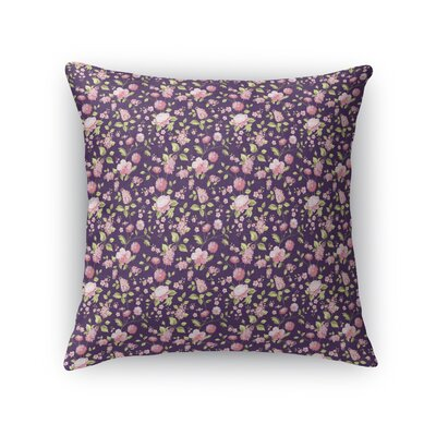 Braylin Bunch Throw Pillow Size: 24 x 24, Color: Purple/Green