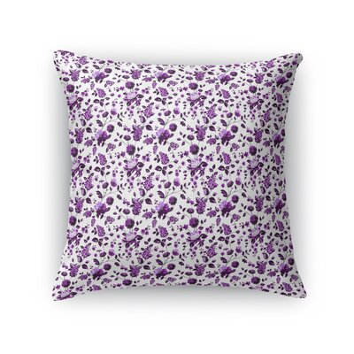 Braylin Bunch Throw Pillow Size: 16 x 16, Color: Purple