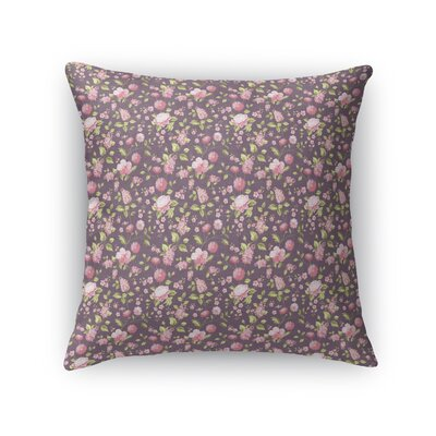 Braylin Bunch Throw Pillow Size: 16 x 16, Color: Rose/Pink/Purple/Green