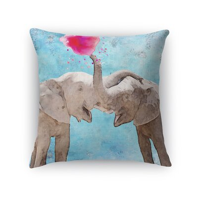 Babbitt Elephant Friendship Throw Pillow Size: 18 H x 18 W