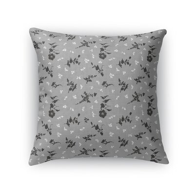 Tomberlin Floral Throw Pillow Size: 16 x 16, Color: Gray/Black