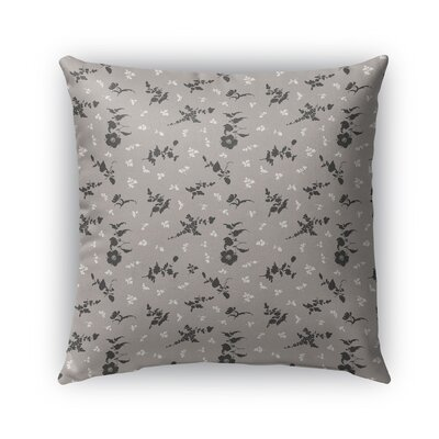 Tomberlin Floral Indoor/Outdoor Throw Pillow Size: 26 x 26, Color: Ivory/Charcoal