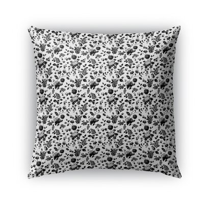 Braylin Bunch Indoor/Outdoor Throw Pillow Size: 24 x 24, Color: Black