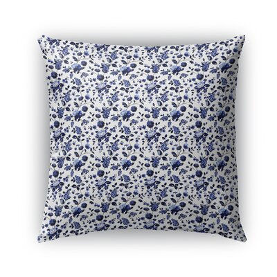 Braylin Bunch Indoor/Outdoor Throw Pillow Size: 16 x 16, Color: Blue