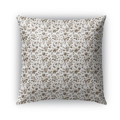 Braylin Bunch Indoor/Outdoor Throw Pillow Size: 16 x 16, Color: Brown/Cream