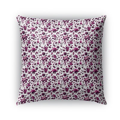 Braylin Bunch Indoor/Outdoor Throw Pillow Size: 16 x 16, Color: Fuchsia/Brown
