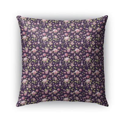 Braylin Bunch Indoor/Outdoor Throw Pillow Size: 24 x 24, Color: Purple/Green