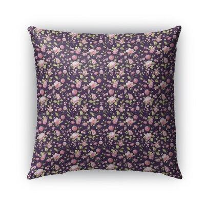 Braylin Bunch Indoor/Outdoor Throw Pillow Size: 18 x 18, Color: Purple/Green
