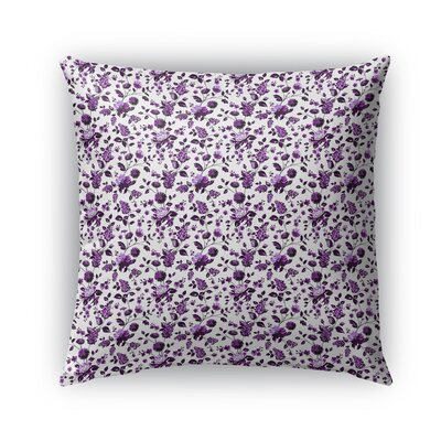 Braylin Bunch Indoor/Outdoor Throw Pillow Size: 18 x 18, Color: Purple